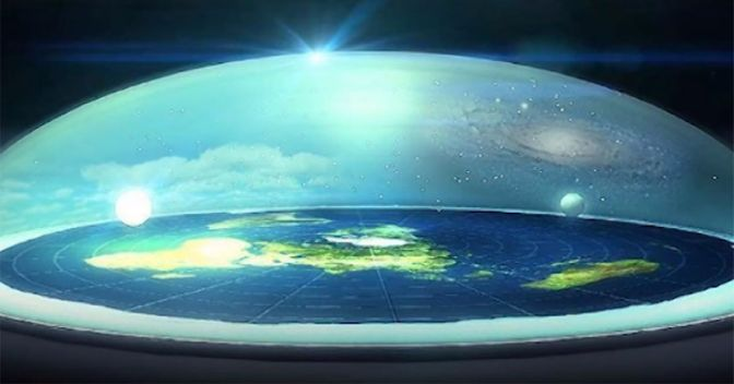 Flat earth dome first picture? best evidence for a biblical dome.